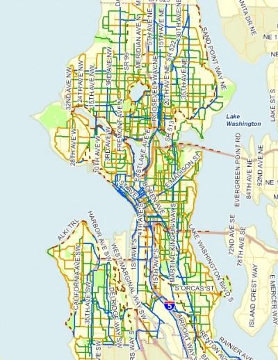 Seattle Bike Network Map