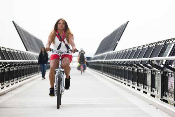 Womxn ride bikes