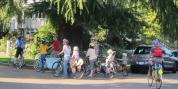 family biking