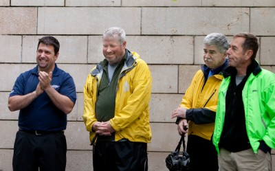 David Hiller, Seattle Mayor Mike McGinn, EPA Regional Administrator Dennis McLaren, Seattle City Councilmember Tom Rasmussen
