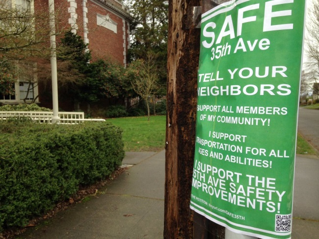 poster reads SAFE 35th Street