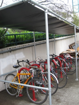 Covered bike parking