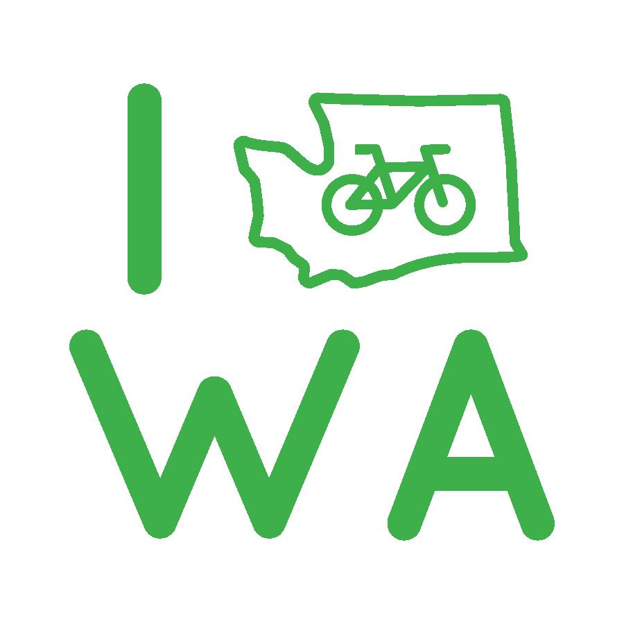 I Bike WA sticker