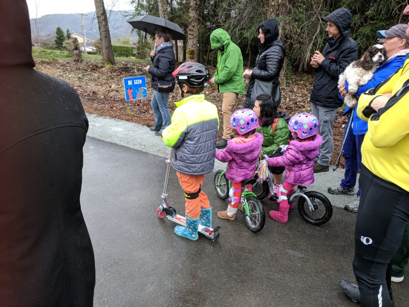 Kids celebrating the opening of Segment A on the East Lake Sammamish Trail