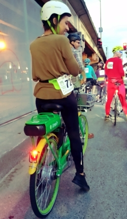 Woman on Lime Ebike