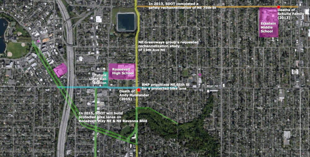 Map of Roosevelt-Ravenna-Bryant Neighborhood