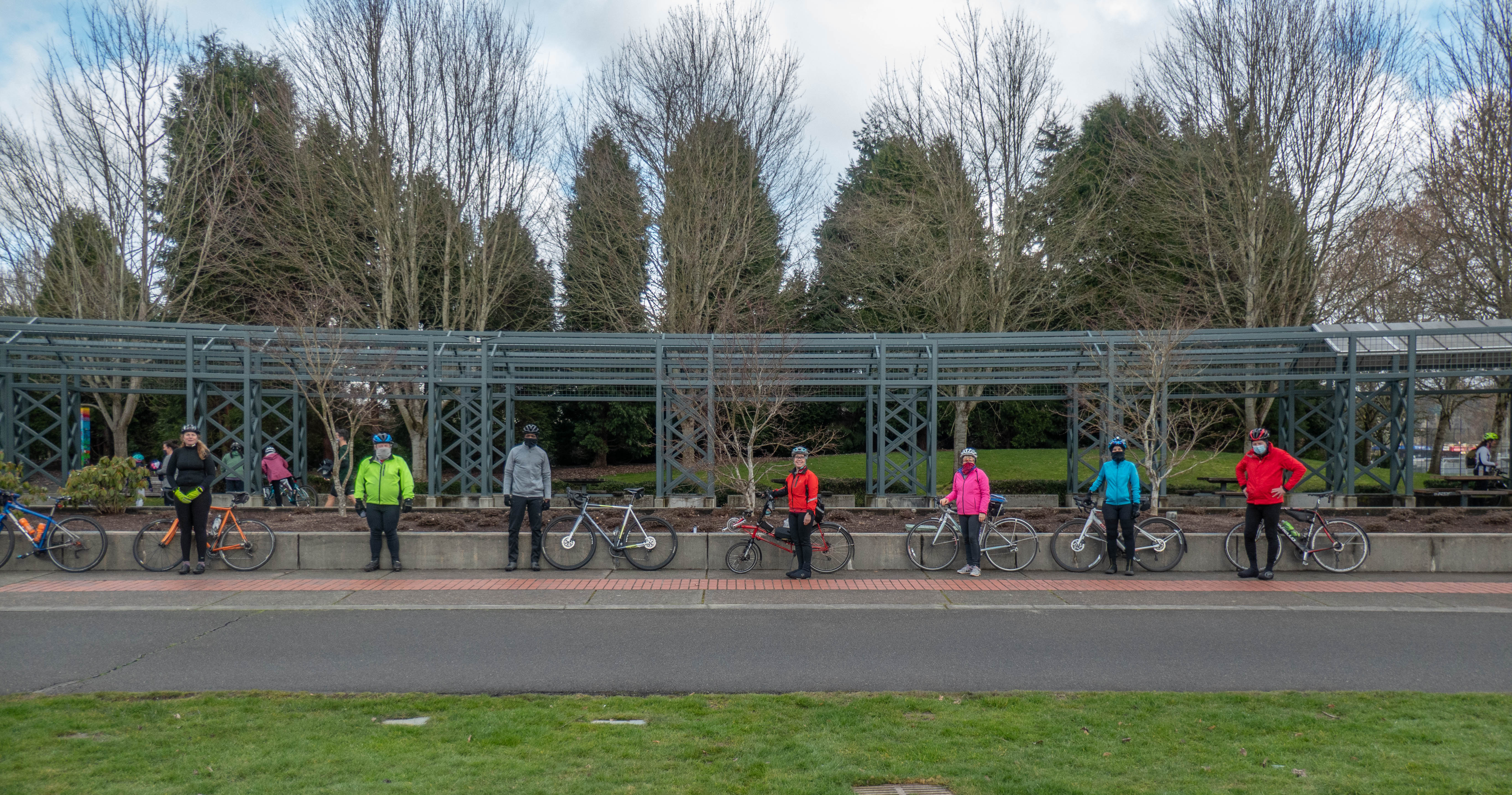 Group Photo at Wilmot Gateway Park in Woodinville, WA