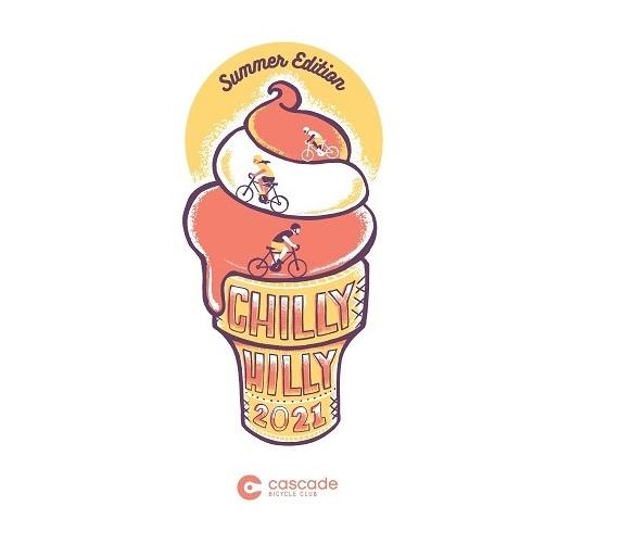 three riders ascend the swirls of a soft serve ice cream cone