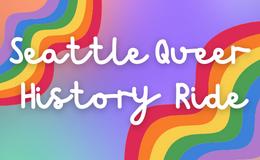 Progress Pride flag with bike icon