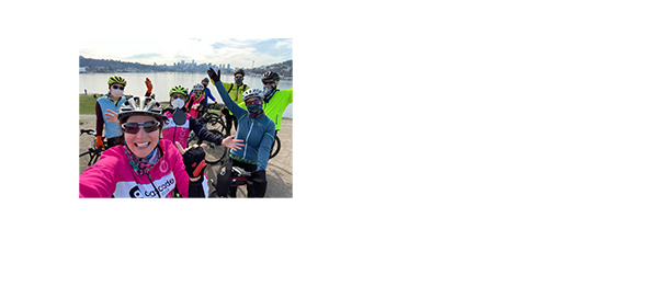 A group of riders out having fun at Gas Works Park in Seattle