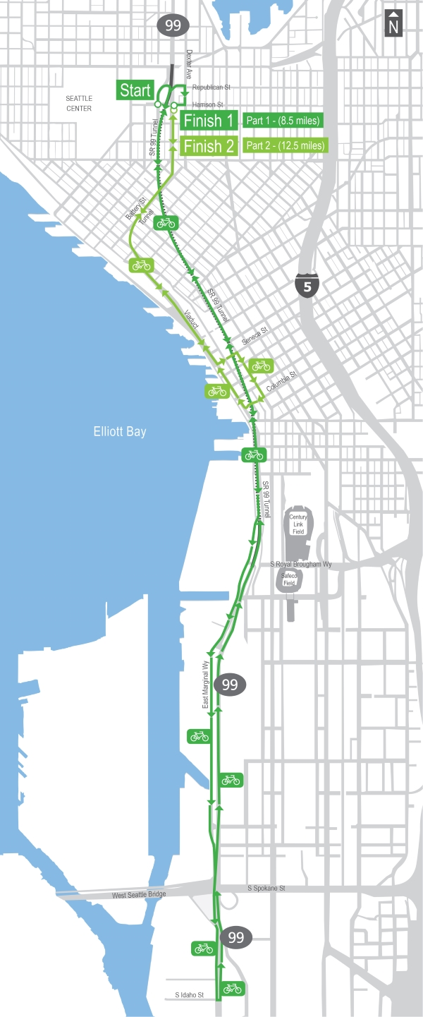 Tunnel Ride Route