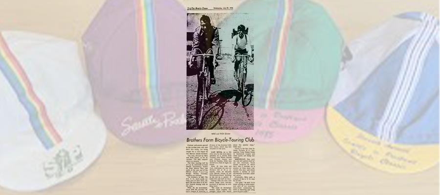 Seattle Times article on Cascade founding with opaque background of STP hats