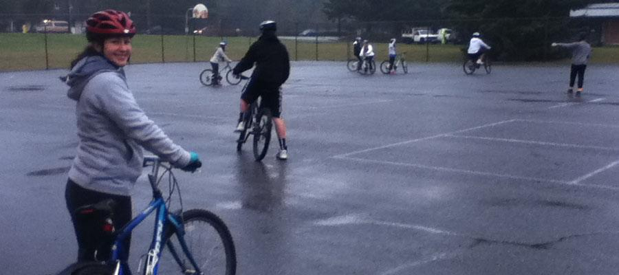 bike safety class at college place middle school
