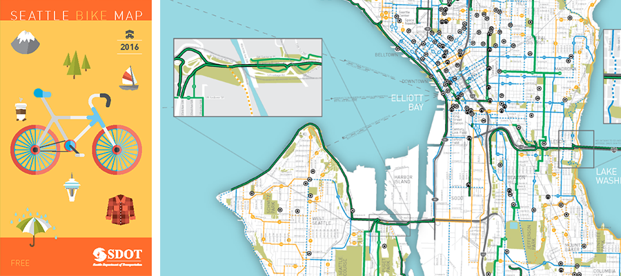 Seattle Bike Map SDOT refreshes the Seattle Bike Map | Cascade Bicycle Club
