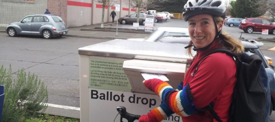 Vote by bike