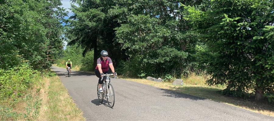 Biking at a distance