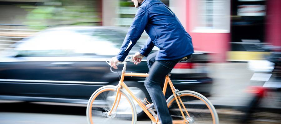 Men's riding coat in action