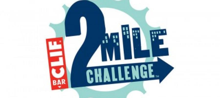 log your miles in the clif bar 2 mile challenge to support the
