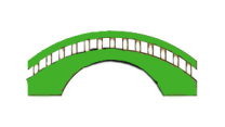 bridge graphic in Cascade green
