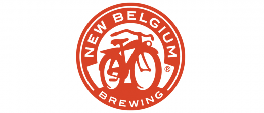 Logo for New Belgium Brewing, featuring a classic commuter bike